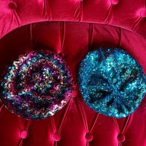 Sequin berets